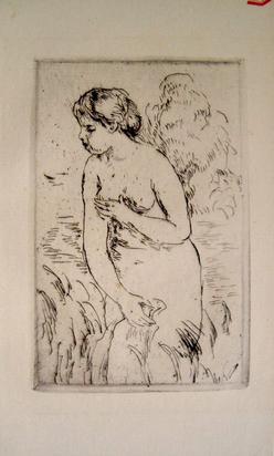 Renoir Pierre Auguste Etching Baigneuse Debout A Mi
