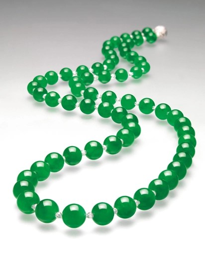 Jadeite bead necklace - Christie's Hong Kong