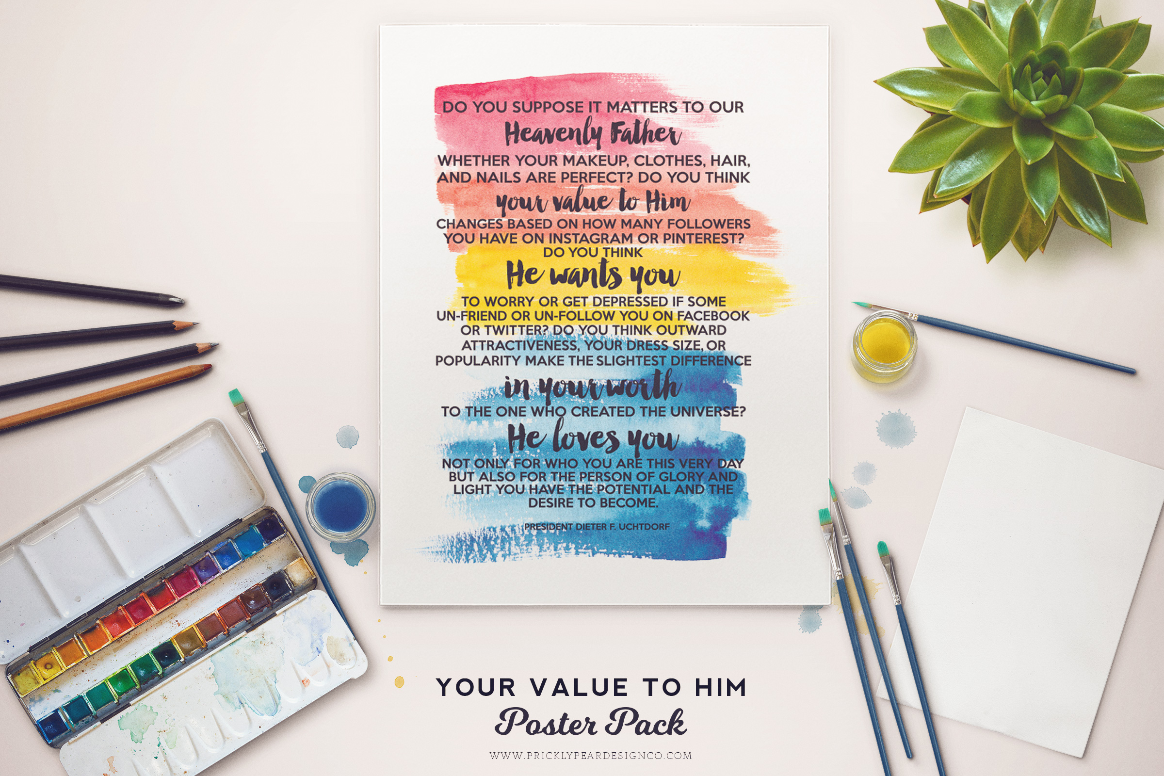 Your Value To Him Poster Pack | Prickly Pear Design Co. | My Own Brand Of Happy | Young Women Printable