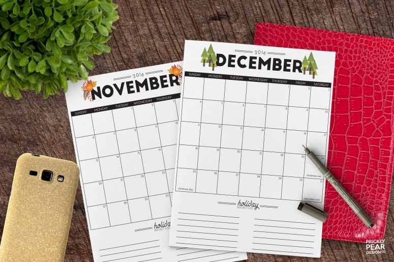 Prickly Pear Design Co. | 5 Tips for Stress Free Holiday Season & Free Planner Printable | DIY Planner | Holiday 2017 Planner | Meal Planner | Party Planner |