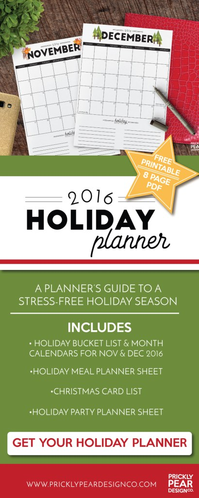 5 Tips for Stress Free Holiday Season | 2016 Holiday Planner Printable | Free Holiday Printable