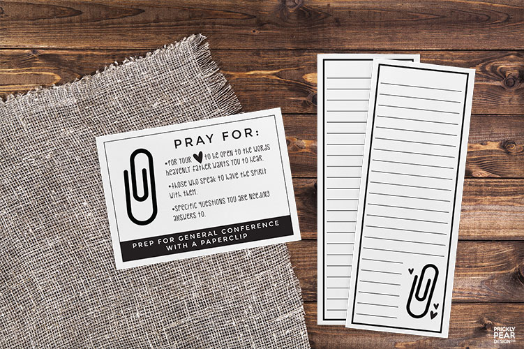 How to Prepare for General Conference with a Paperclip | LDS Object Lesson & Handouts | Young Women | Relief Society | LDS Printables | Prickly Pear Design Co.