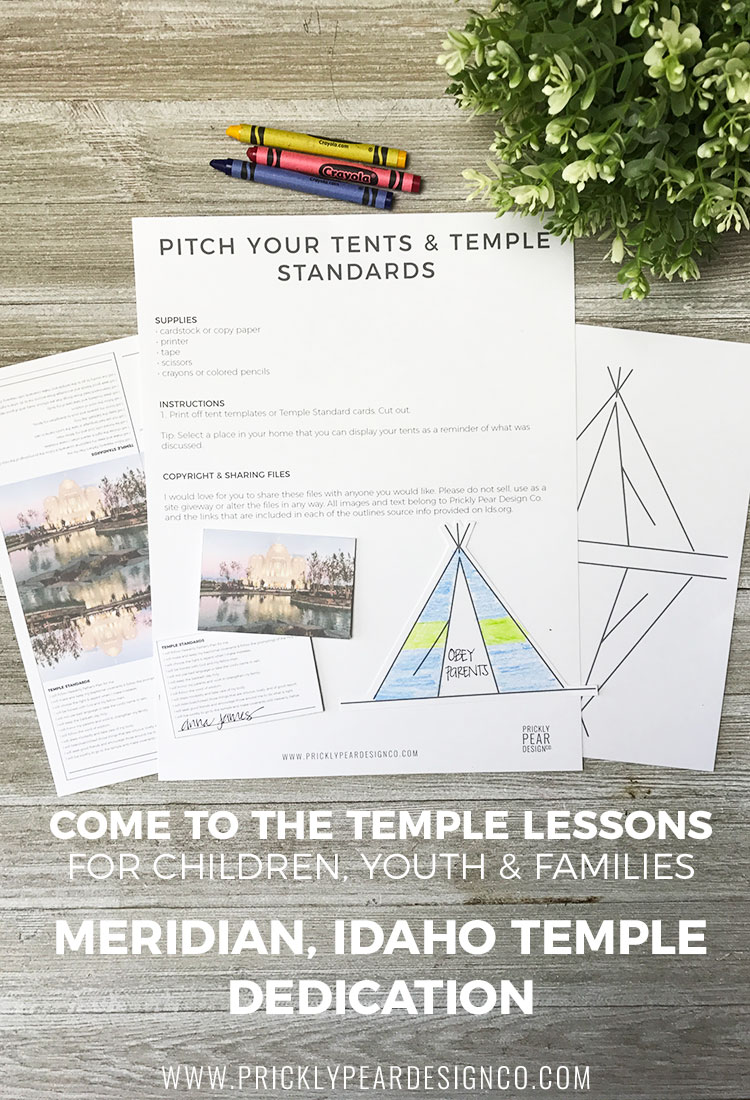 Come to the Temple Lessons for Children, Youth, & Families | Meridian Idaho Temple Dedication | LDS Temple | FREE LDS Printables
