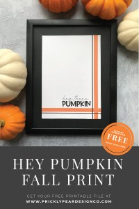 Hey Pumpkin Fall Print