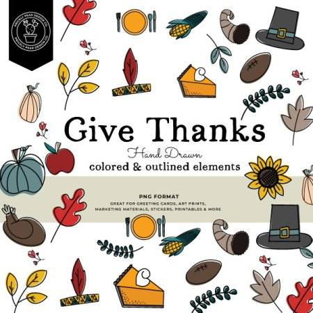 Thanksgiving Digital Graphics