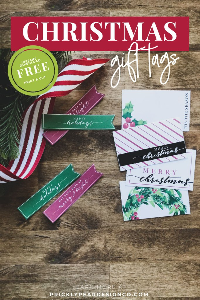 Christmas Gift Tags from Prickly Pear Design Co.