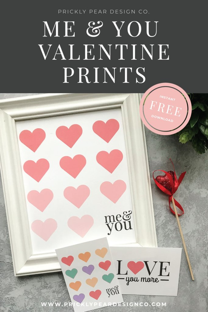 Me & You Valentine Prints and Notecards from Prickly Pear Design Co.