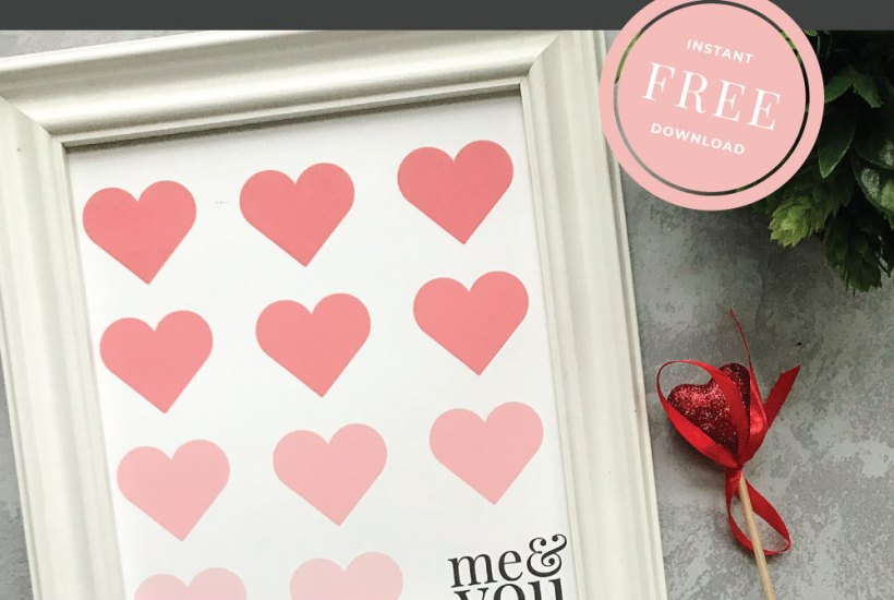 Me & You Valentine Prints from Prickly Pear Design Co.