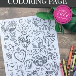 This darling Valentine coloring page would be the perfect addition to your Valentine's Day classroom celebration or as a fun way to spend a few minutes with your kiddos on the weekend.