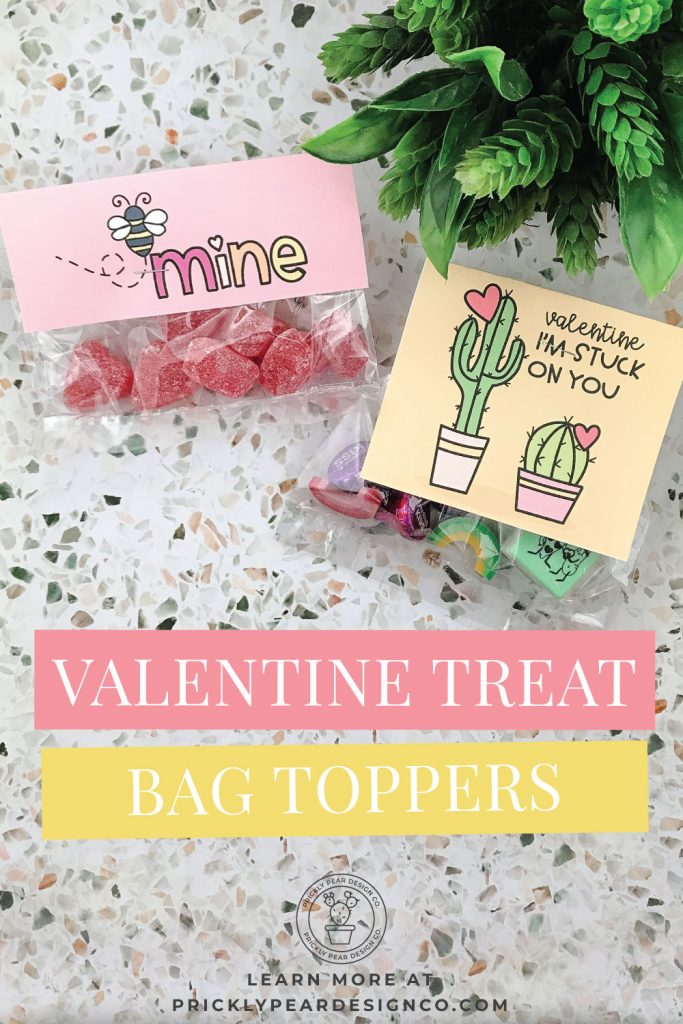 Valentine Treat Bag Toppers from Prickly Pear Design Co.