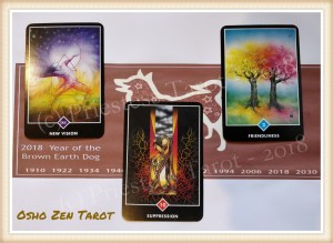 Dog Spread using Osho Zen Tarot