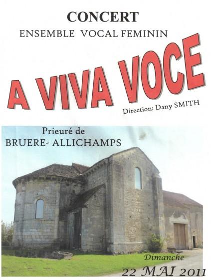 Saison 2011 – Ensemble vocal féminin «A viva voce»