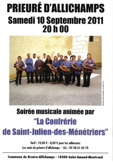 Saison 2011 – Confrérie de Saint-Julien-des-Ménétriers