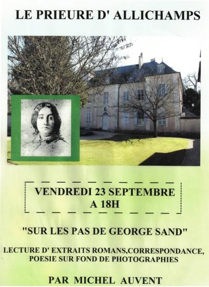 Saison 2011 – Michel Auvent, lecture «Sur les pas de George Sand»