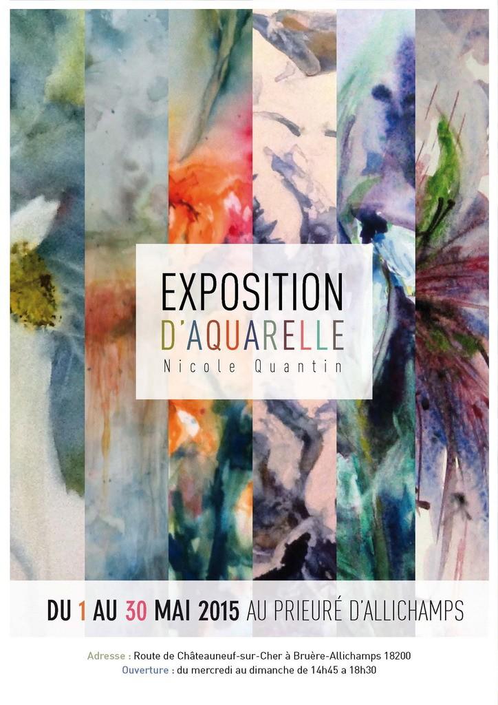 Affiche expo Nicole Quantin mai 2015
