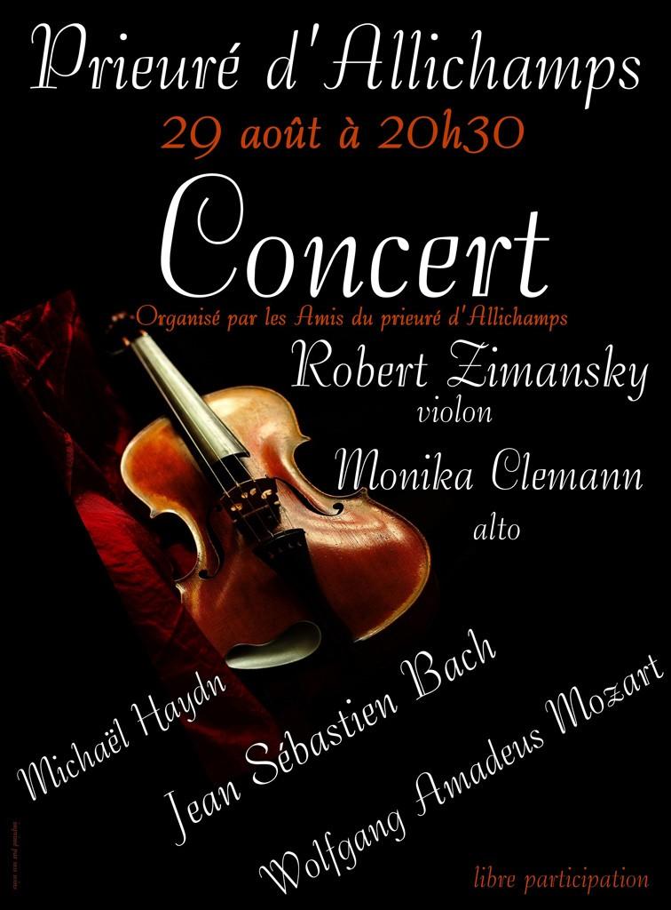 29 août 2014 Concert Robert Zimansky et Monika Clemann