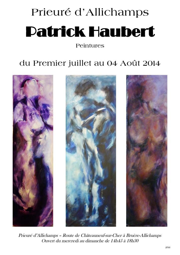 Affiche Patrick Haubert au Prieuré d'Allichamps (1)