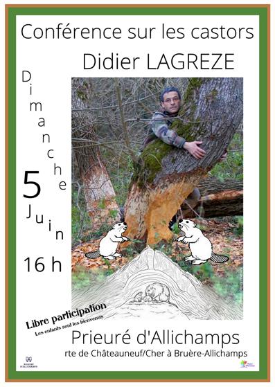 Saison 2016 – Conférence sur les castors par Didier Lagreze (les enfants sont les bienvenus)