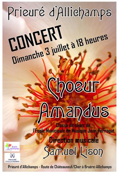 Saison 2016 – Le Choeur Amandus dirigé par Samuel Lison