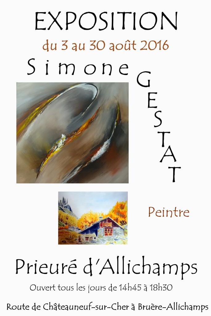 Affiche expo Simone Gestat au prieuréS