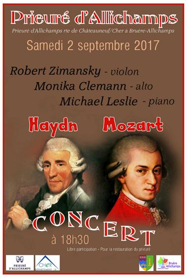 Saison 2017 – Concert violon, alto, piano
