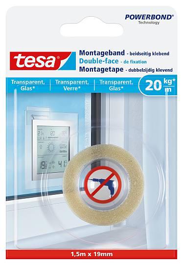 Tesa Montage Tape Transp 15x19 Prifix
