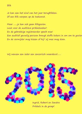 de beste wensen 2015