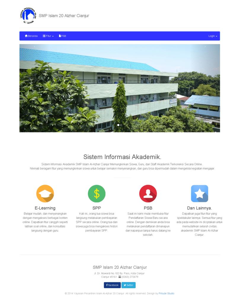 Sistem Informasi Akademik SMP Al-azhar Cianjur