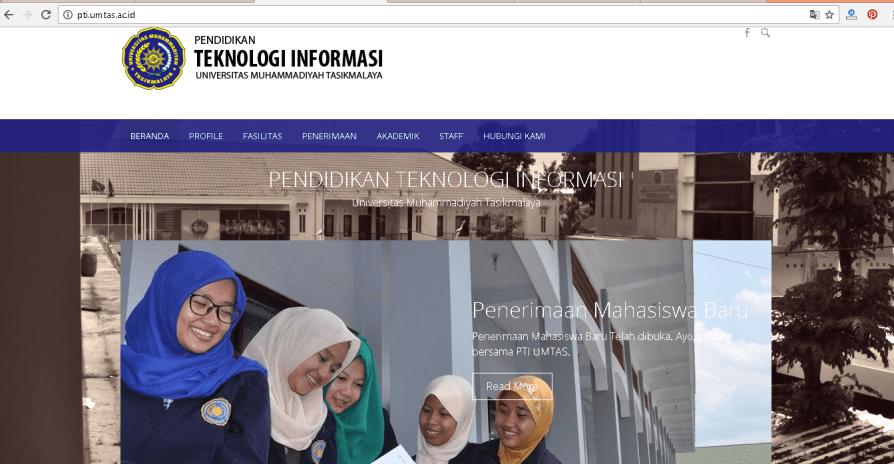Pembuatan Web Profile Kampus, Pend Teknologi Informasi (PTI) UMTAS