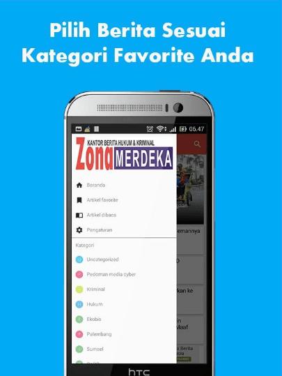 Aplikasi Android Portal Berita Zona Merdeka