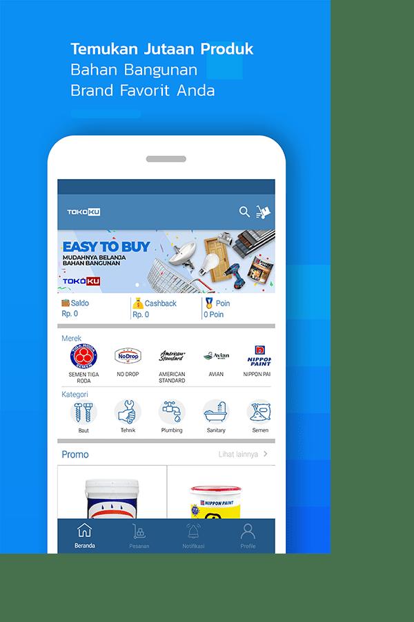 Aplikasi Marketplace Bahan Bangunan Terpercaya Dan Berkualitas, Ya Tokoku