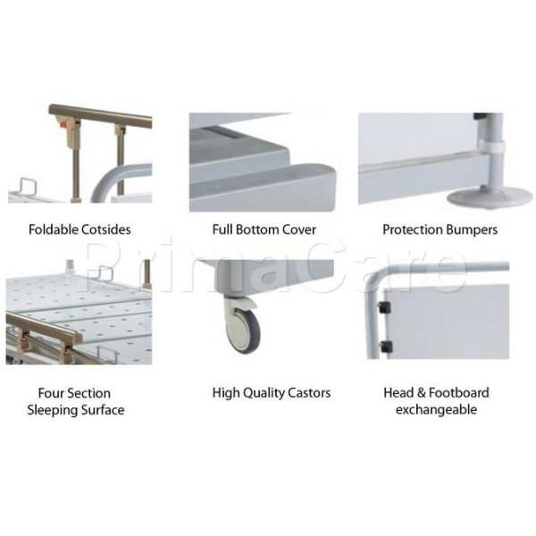 Hospital bed - Hydraulic - Height adjustable - MS 1000 - Functionality overview