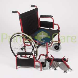 Wheelchair - Heavy Duty - Removable foot and arm rest