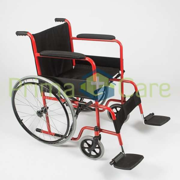 Wheelchair - Standard - Side view with foot rests apart