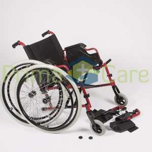 Wheelchair - Ultra Deluxe - quick release rear wheels