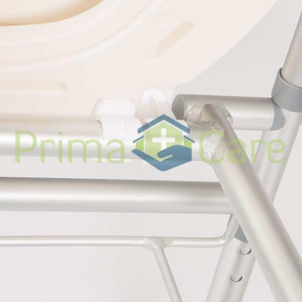 Commode - Aluminium - Folding - With Wheels - Seat clip