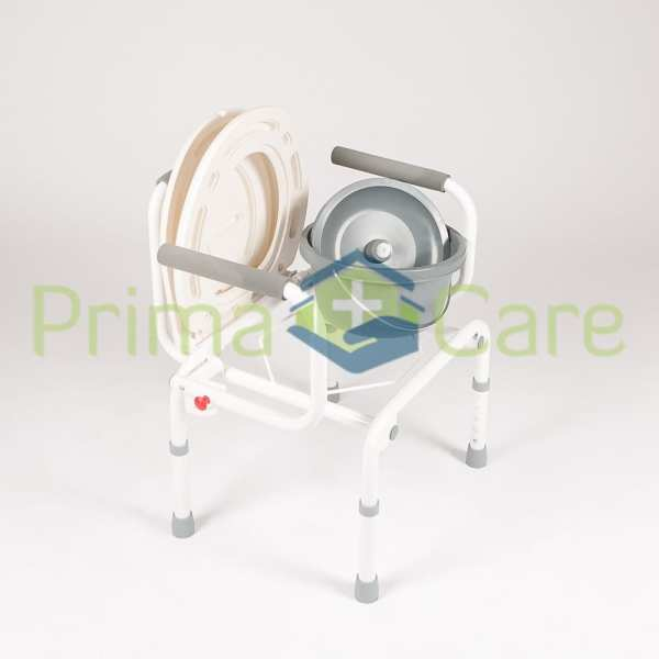 Commode - Drop arm - removable bucket