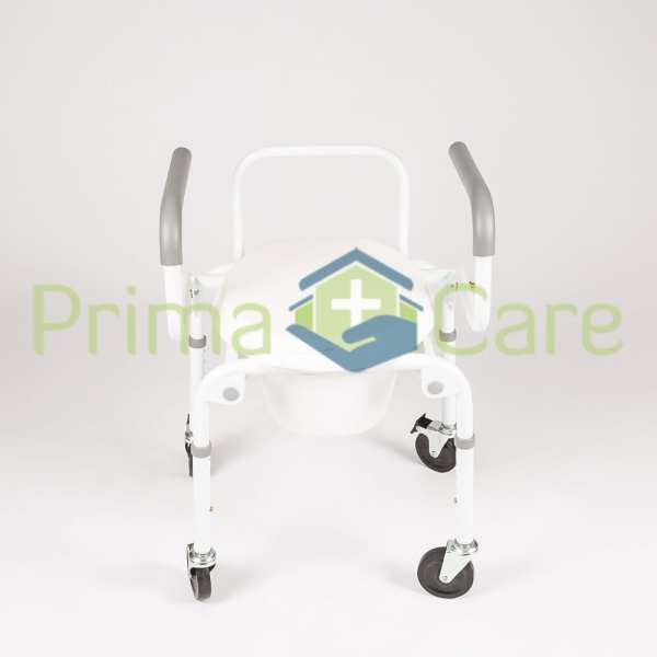 commode-drop-arm-with-wheels-front-view