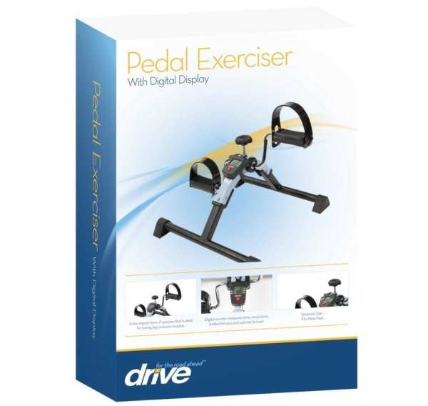 Pedal Exerciser - Drive Medical - With Digital Display - Retail packaging