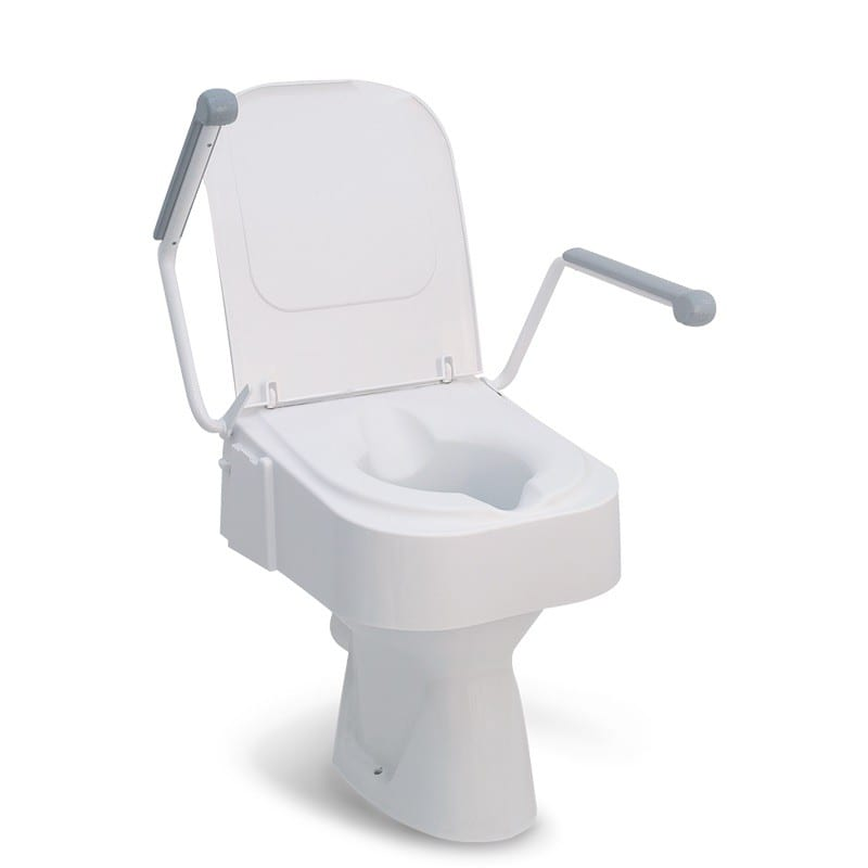 Drive Raised Toilet Seat With Arms.Raised Toilet Seat Drive Medical Height Adjustable With Arms