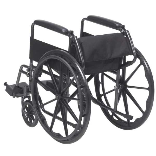 Wheelchair - Drive Medical - Silver Sport - Rear View with folded backrest