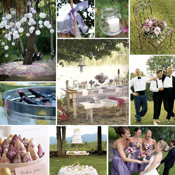 Summer Garden Wedding In Lilac And Pink