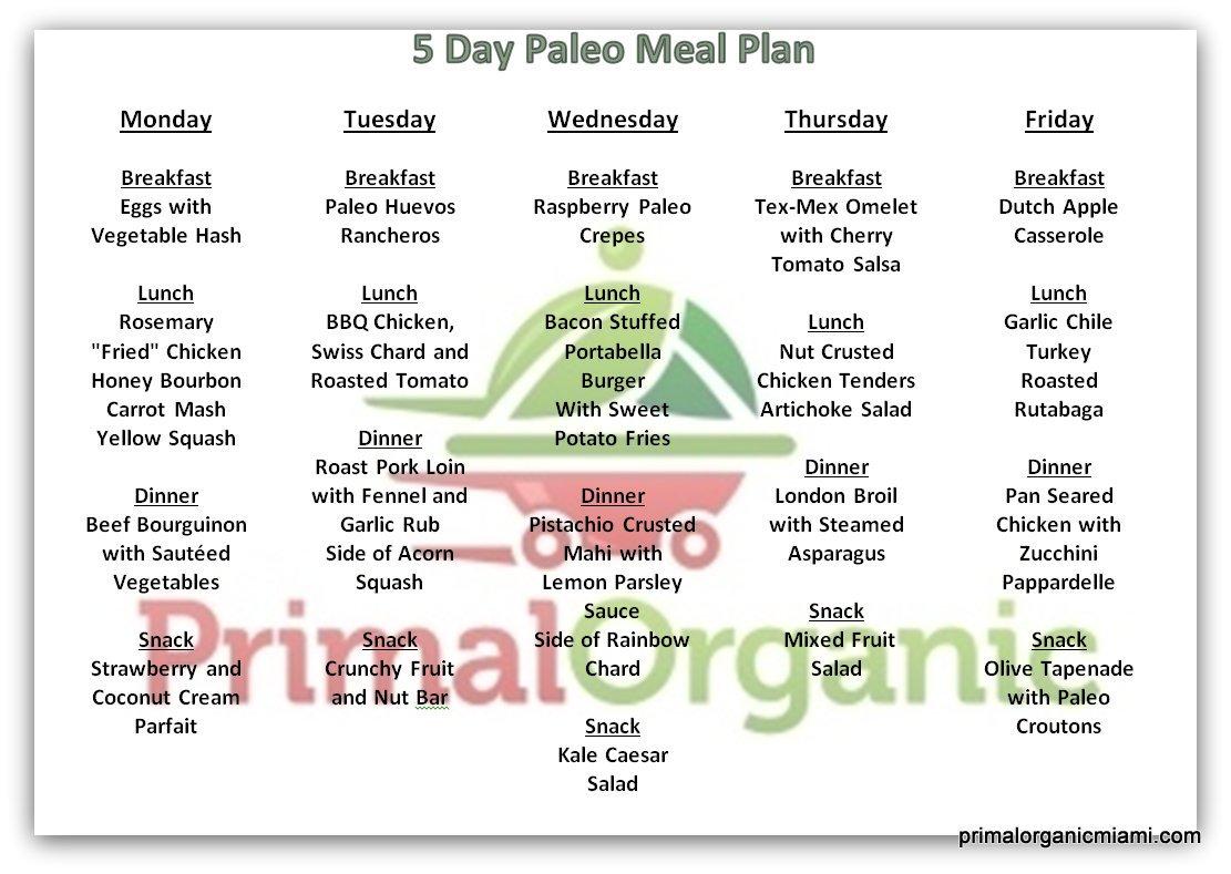 14-Day Paleo Diet Meal Plan