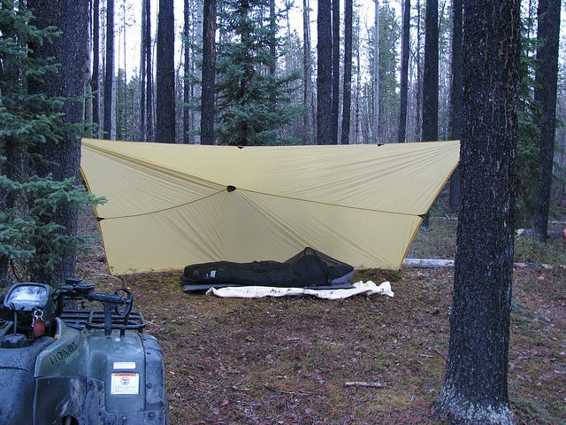 tarp lean to design