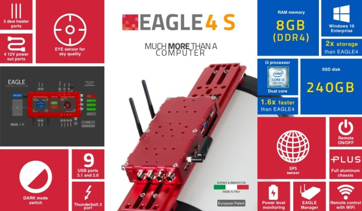 EAGLE4 S, advanced control unit for telescopes and astrophotography