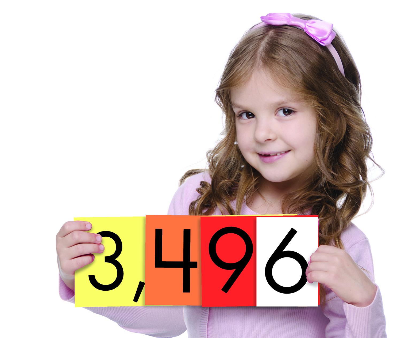 Sensational Math 4 Value Whole Numbers Place Value Cards Set