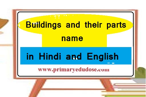 Buildings and their parts name in Hindi and English