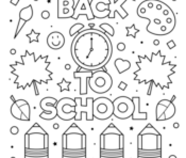 Back To School Coloring Pages  E  A Free Printable Pdf From Primarygames