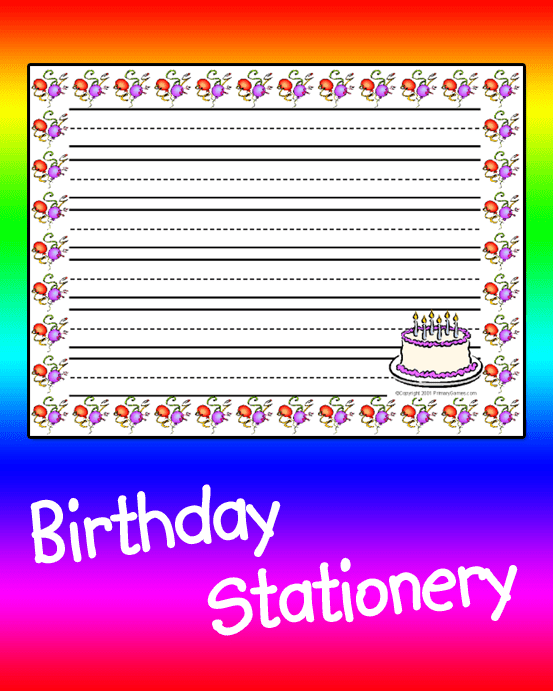 Birthday Stationery PrimaryGames Play Free Online Games