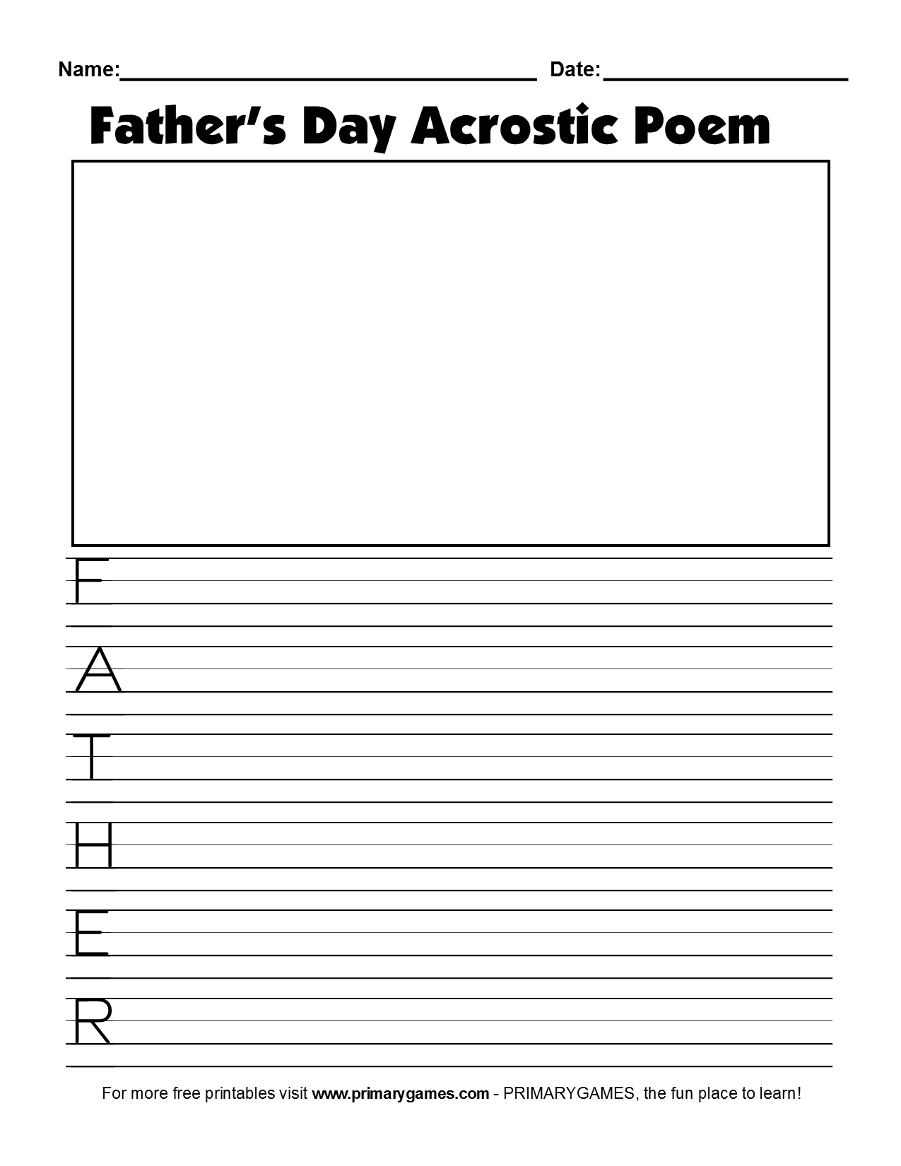 Father S Day Crafts Father S Day Acrostic Poem